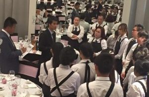 Vi Catering Waiting Staff serving a catering event in Melbourne